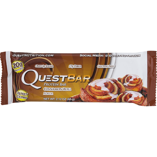 Quest Bar Protein Bar, Cinnamon Roll Flavor
