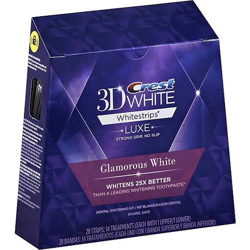Crest 3d White Whitestrips Glamorous White Teeth Whitening Kit 14