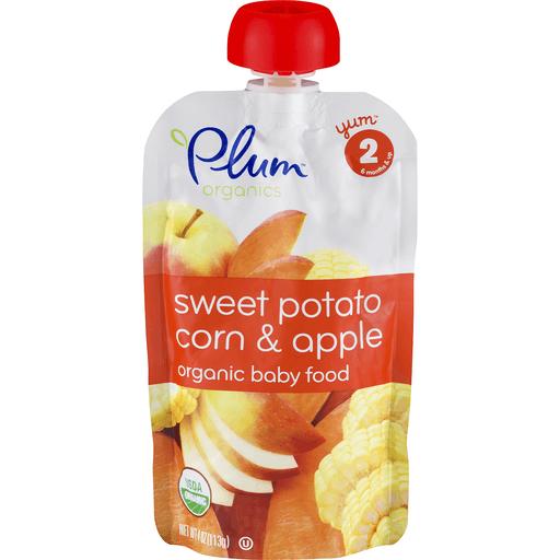 Plum Organics Baby Food, Organic, Sweet Potato, Apple & Corn, 2 (6 Months & Up)