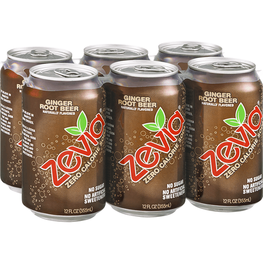 Zevia Soda, Zero Calorie, Ginger Root Beer