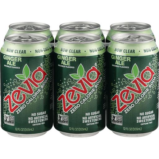 Zevia Soda, Zero Calorie, Ginger Ale