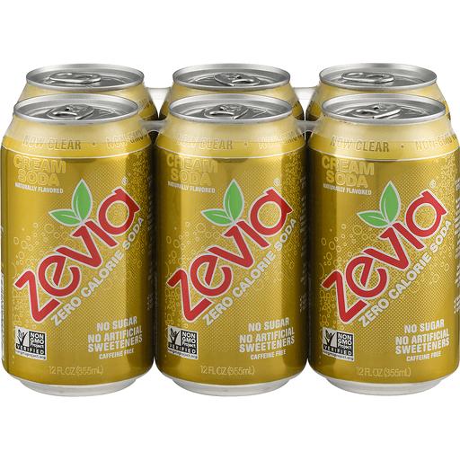 Zevia Soda, Zero Calorie, Cream, Caffeine Free
