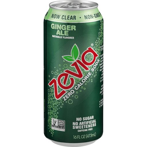 Zevia Soda, Zero Calorie, Ginger Ale, Caffeine Free