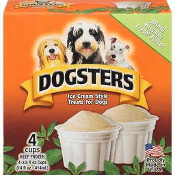 Dogsters Treats for Dogs, Ice Cream Style, Minte Kissably Fresh Flavor
