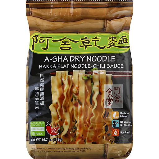 A-Sha Hakka Noodle In Chili Sauce-5pk