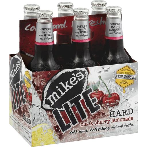 Mikes Lite Malt Beverage, Premium, Hard Black Cherry Lemonade