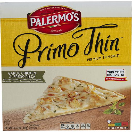 Palermo S Primo Thin Garlic Chicken Alfredo Pizza Sendik S Food Market
