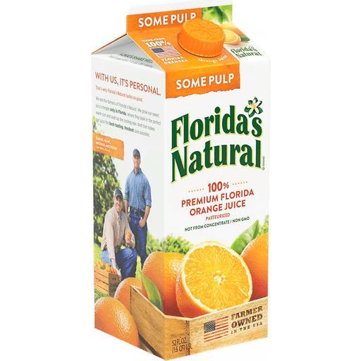Florida Natural Home Sqeezed-Some Pulp Orange Juice