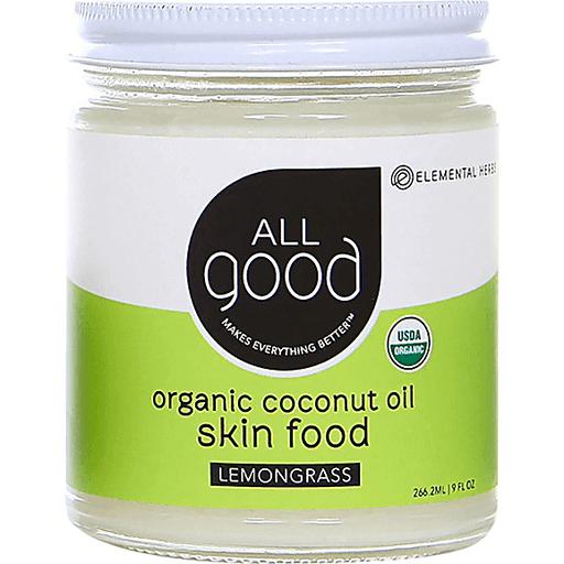All Good Coconut Oil Skin Food - Lemongrass