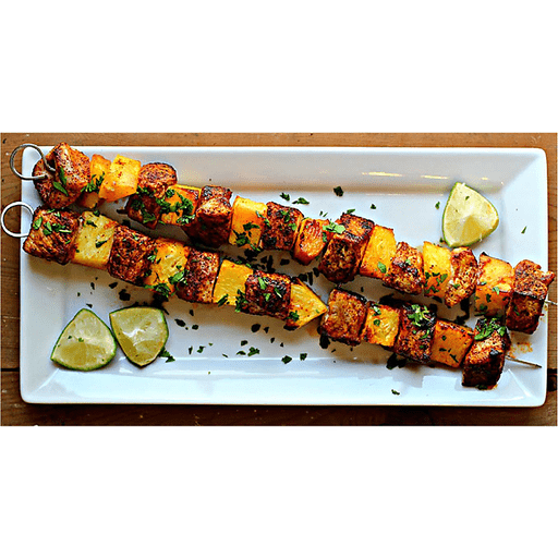 Chili-Rubbed Pork & Pineapple Kabobs