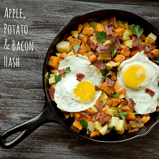 Apple, Potato and Bacon Hash