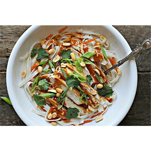 Asian Peanut Chicken Noodle Bowl