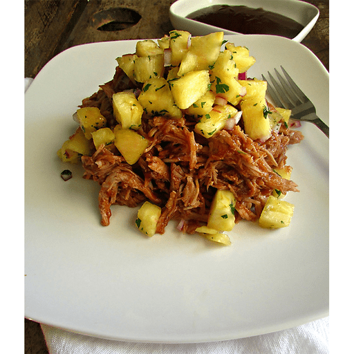BBQ Pulled Pork with Pineapple Salsa