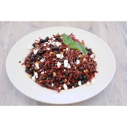 Beet Noodle Salad with Blueberries, Walnuts & Goat Cheese