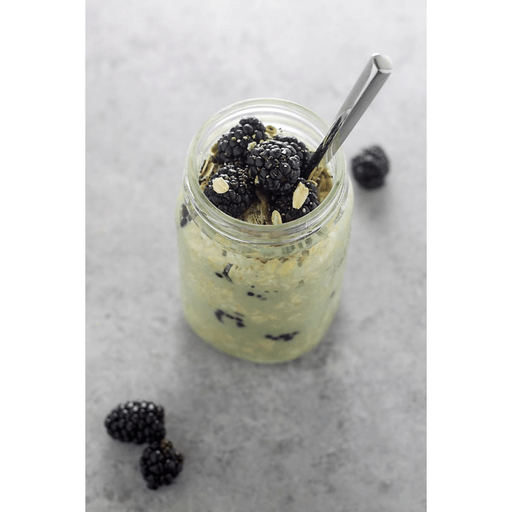 Blackberry Matcha Overnight Oats