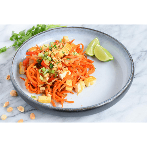 Carrot Noodle Pad Thai with Tofu