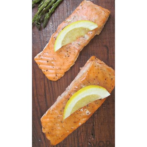 Cedar Plank Salmon with Maple-Mustard Glaze