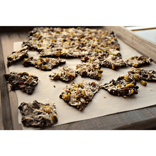 Chocolate Bark with Pistachios and Cherries