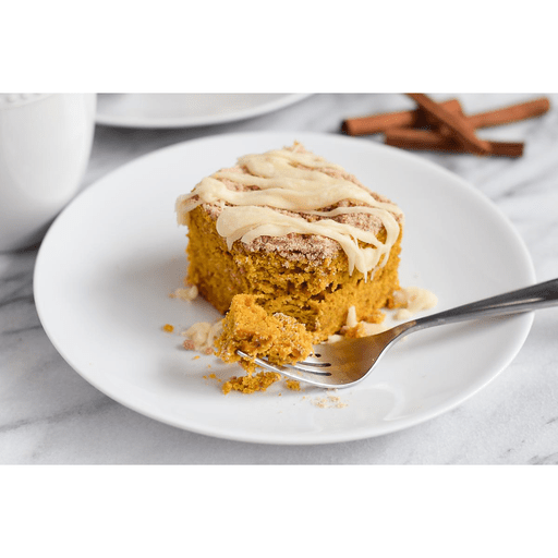 Cinnamon Streusel Pumpkin Coffee Cake with Cream Cheese Glaze