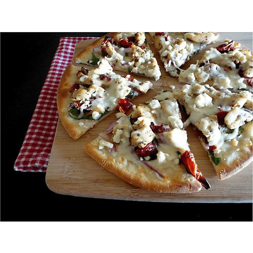 Gluten Free Herb Chicken Mediterranean Pizza