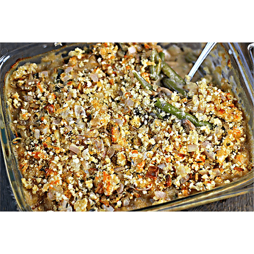 Green Bean Casserole with Shallot Crumb Topping