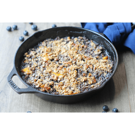 Grilled Blueberry Peach Skillet Crumble