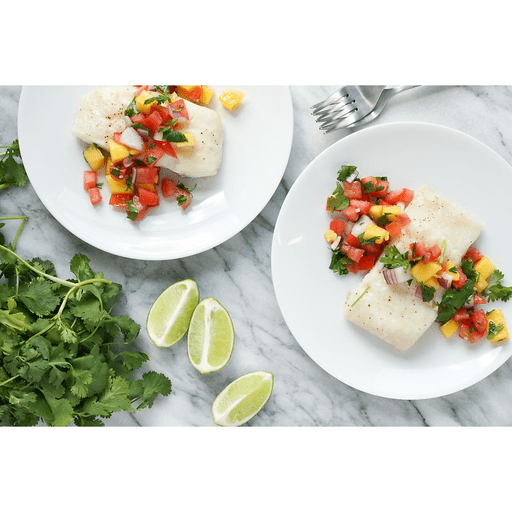 Grilled Halibut with Fresh Mango Salsa