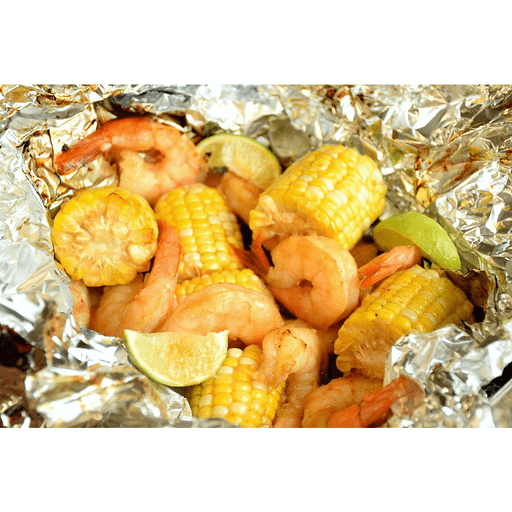 Grilled Lime Shrimp and Corn