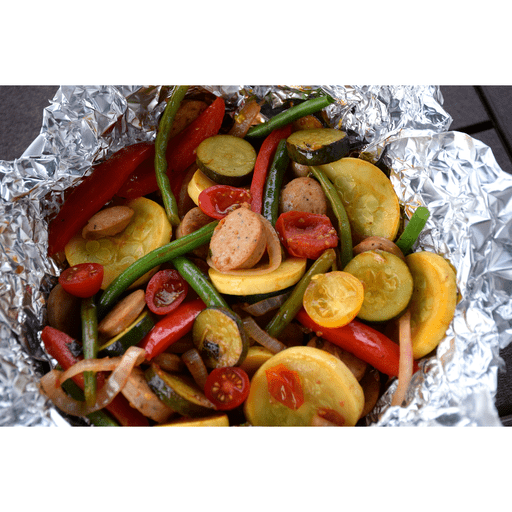 Grilled Veggies and Chicken Sausage