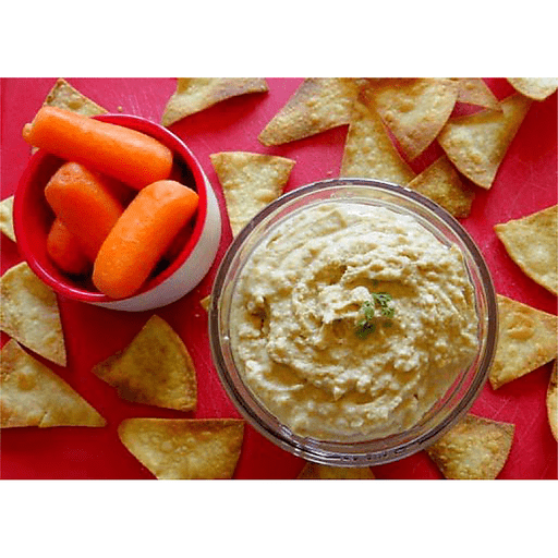 Homemade Chips and Hummus