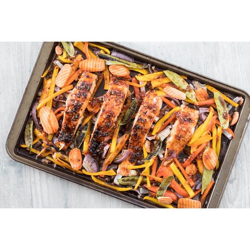 Sheet Pan Thai Glazed Salmon with Veggies