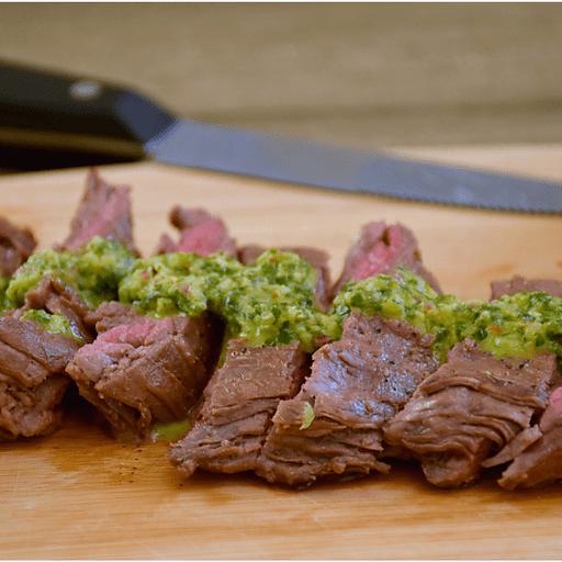 Steak with Chimichurri Verde