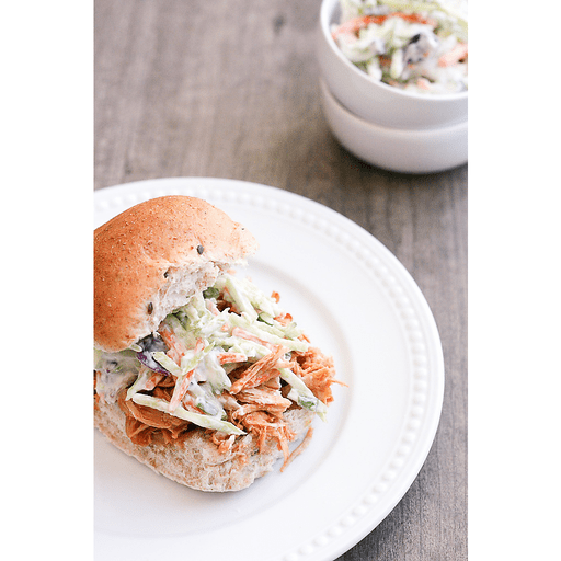 Slow Cooker Maple Bourbon BBQ Chicken Sandwiches with Apple Slaw