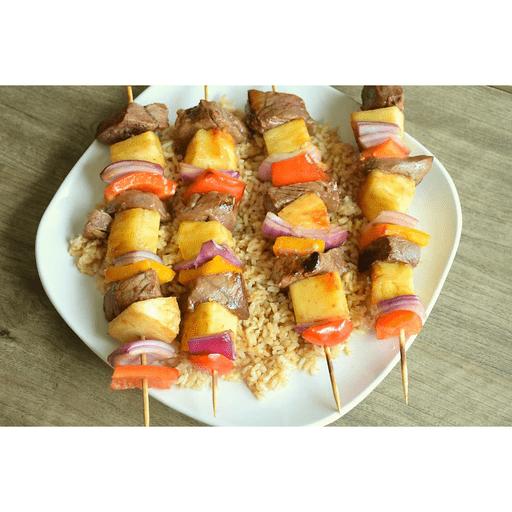 Teriyaki Beef Kabobs with Pineapple & Peppers
