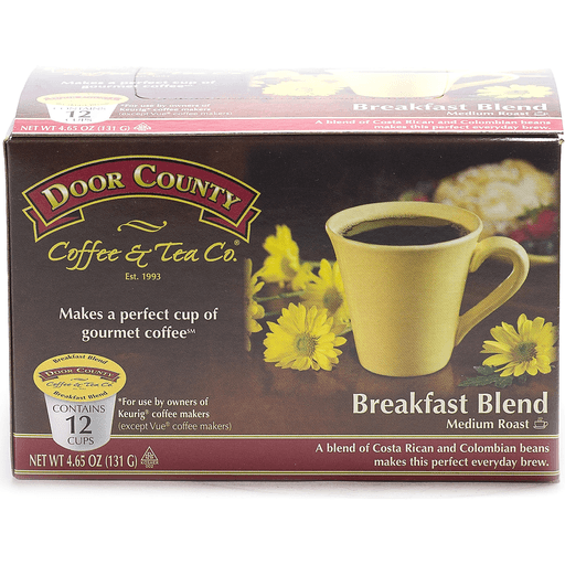 Door County Breakfast Breakfast Blend Coffee Single Serve Cups
