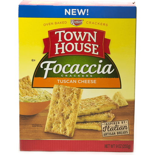 Town House Crackers, Focaccia, Tuscan Cheese