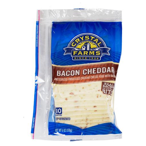 Crystal Farms Bacon Cheddar Singles