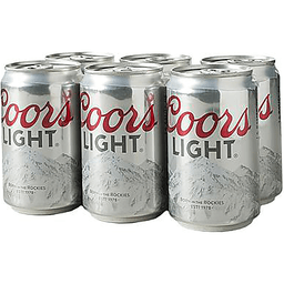 Coors Light Beer, 6 Pack