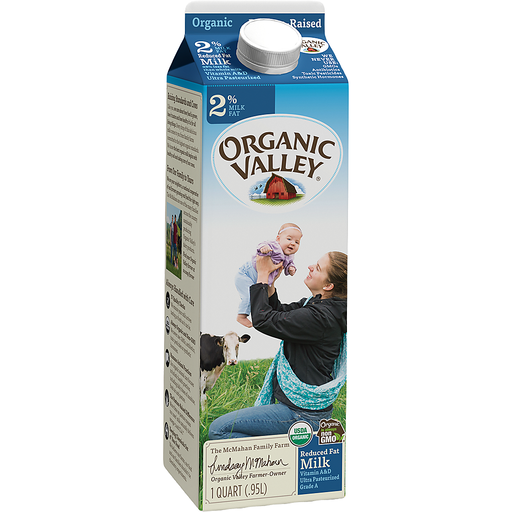 Organic Valley Ultra Pasteurized 2 % Milk