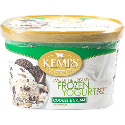 Kemps Smooth & Creamy Frozen Yogurt Cookies & Cream