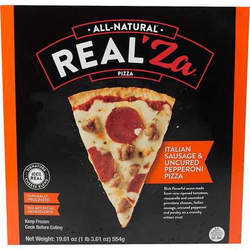 Real'za Sausage And Pepperoni Pizza