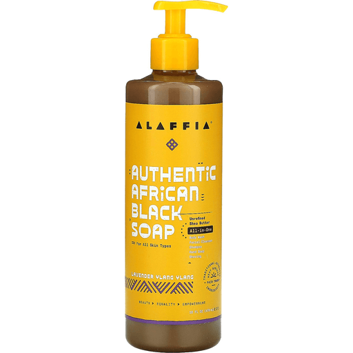 Alaffia African Black Soap - Lavender Ylang