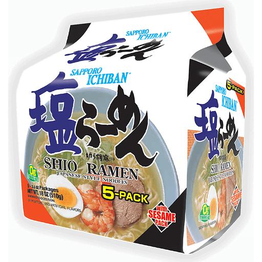 Sapporo Ichiban Ramen - 5 Pk Shio