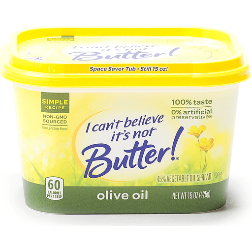 I Cant Believe Its Not Butter Vegetable Oil Spread 45 Olive Oil Margarine Butter Substitutes Chief Markets